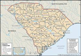map of and south carolina state and county maps of south carolina