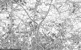 map of oldham maps of oldham edge francis frith