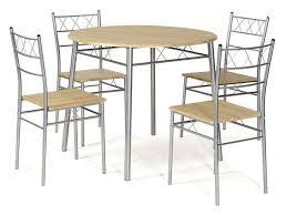 tables rondes de cuisine ensemble table ronde et 4 chaises de cuisine lota coloris gris