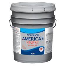 america u0027s finest 5 gal flat latex light colors exterior paint