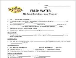 How The Earth Was Made Worksheet Answers Earth Fresh Water Questions Worksheet Editable
