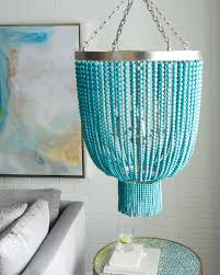 turquoise beaded chandelier chandeliers everything turquoise