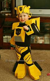 Coolest Transforming Bumblebee Transformer Costume Transformer 14 Kosztümös Images Costume Halloween Ideas
