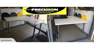 Preloved Reception Desk Preloved Workstation With New Metal Legs Precision Trade Me