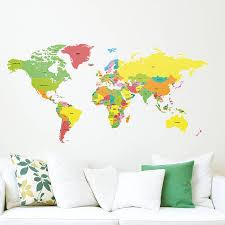 Map Of Globe Map Of World Wall Sticker Joshua And Tammy