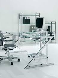 bureau verre design bureau professionnel design en verre et acier zeolith arketiss