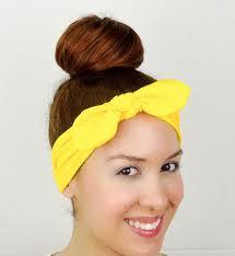 yellow headband turban bow yellow headband wrap bow yellow by juicybows