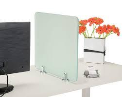 desk privacy screen translucent panel desk divider office d large