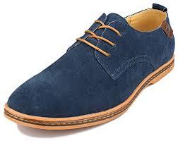 kunsto men u0027s classic leather oxfords flats shoes lace up men