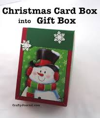 turn a christmas card box into a gift box