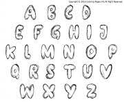 bubble letters coloring pages free printable
