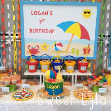 themed pictures themed 1st birthday party ideas for a cool indoors