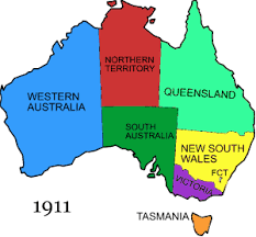map of austrailia map of australia showing states major tourist