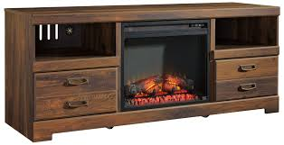 signature design by ashley quinden rustic casual large tv stand