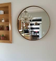 ikea circular grundtal mirror makeover diy gold