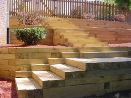 Retaining Wall Stairs Design Timber Retaining Wall Design Farmhouse Design And Furniture