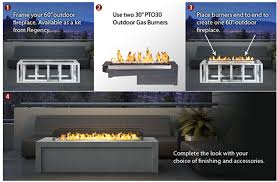 regency plateau pto outdoor gas burner linear fireplace by