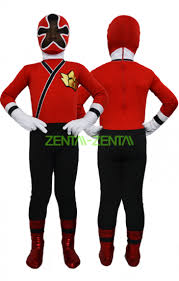 power ranger kids costume samurai megazord red black spandex