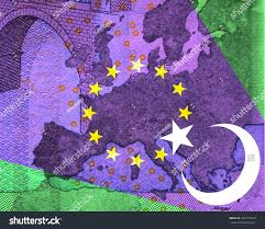 Map Of The Stars Europe Turkey Relationship In Purple Beam Southeast Stock
