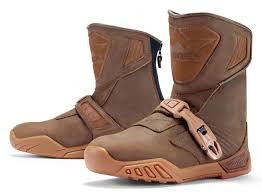 buy motorcycle waterproof boots icon raiden treadwell waterproof leather dual sport motorcycle