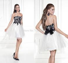 white prom dresses short black appliques prom gowns mini