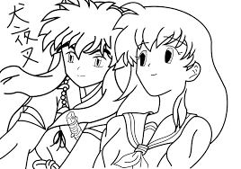 inuyasha the final act kids coloring pages