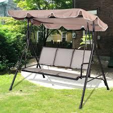 Swinging Outdoor Chair Patio Ideas Sunjoy 3 Seat Steel Traditional Porch Swing Swing