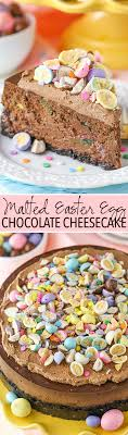 malted easter eggs malted easter egg chocolate cheesecake and sugar