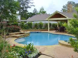 backyard design tropical landscaping ideas around pool