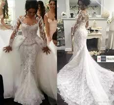 2018 designer luxury middle east mermaid wedding dresses sheer