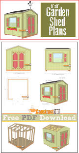 garden shed plans 8 u0027x8 u0027 pdf download construct101