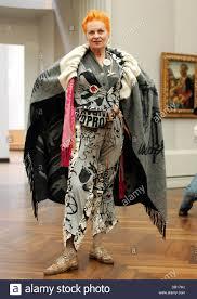designer berlin britsh fashion designer vivienne westwood poses at an gallery