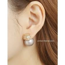 sided earrings rosette faux pearl sided earrings soo n soo polyvore