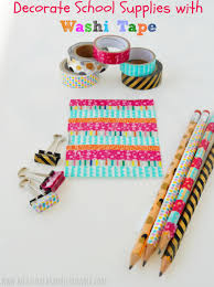How to Decorate School Supplies with Washi Tape Meatloaf and
