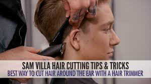 best way to cut hair around the ears with a hair trimmer youtube
