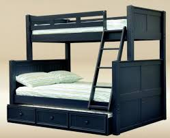 jay 0231blue navy blue bead board twin full trundle bunk bed