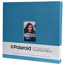 2x3 photo album polaroid 8 x8 cloth covered scrapbook for zink 2x3 projects skymall