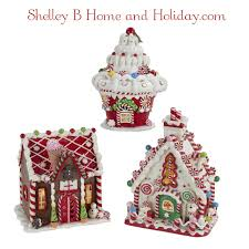 gingerbread candy christmas house decorations lighted house