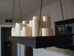 pottery barn knock off lighting knock off pottery barn candle candelier diy pinterest