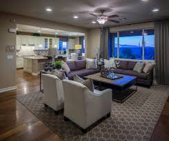the living room and kitchen in the dominic model by richmond