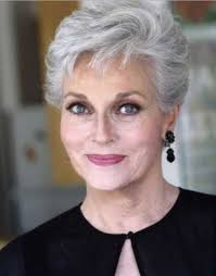 stylish cuts for gray hair older women hairstyles short gray party hairstyles side parted for