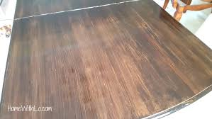 how to wood veneer furniture how i refinished a wood veneer table top to make it look