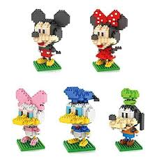 loz diamond blocks 5box loz diamond block mickey mouse donald duck micky minny goofy