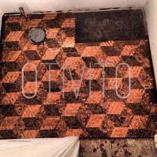 Home Design Reddit Some Guy On Reddit Used Pennies To Cover A Floor In His House