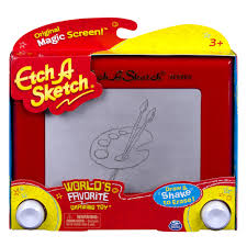 etch a sketch classic drawing toy red toys