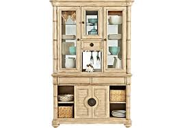 cindy crawford home key west sand 2 pc china cabinet china