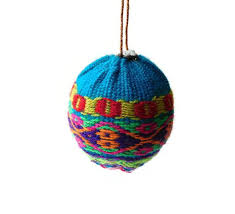 fabric baubles handmade think curious