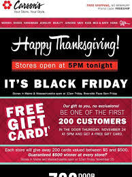 carson s give thanks then get ready black friday deals inside