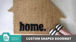 how to make a custom shaped doormat ikea hack using trampa