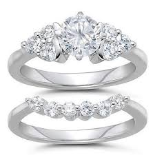 diamond wedding ring sets for 2 00 ct t w diamond engagement ring set h i si2 sam s club